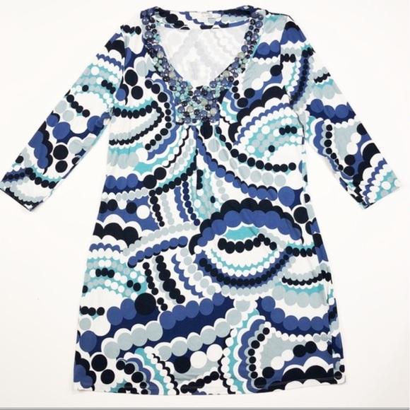 Boden Dresses & Skirts - Boden jeweled necklace Vneck shift dress size 8